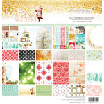 Websters Pages - All That Glitters Collection - Christmas - 12 x 12 Paper Pad