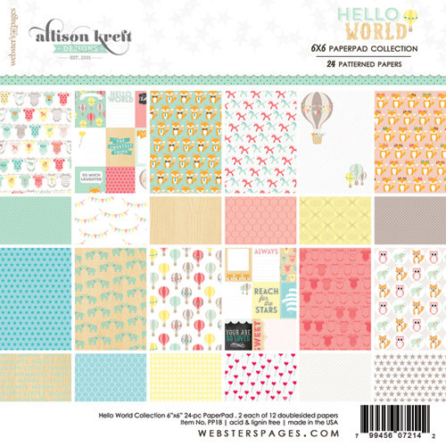Websters Pages - Hello World Collection - 6 x 6 Paper Pad