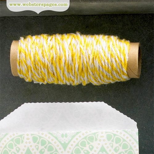 Websters Pages - Quick Picks Collection - Designer Trim - Yellow Bakers Twine - 1 Yard