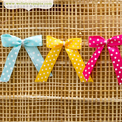 Websters Pages - Quick Picks Collection - Polka Dot Bows - One