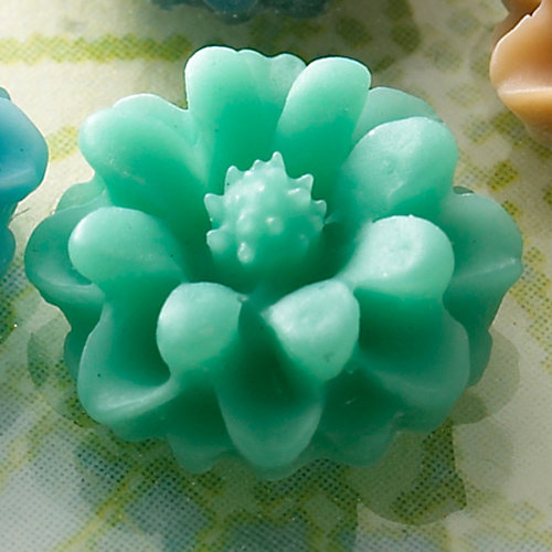 Websters Pages - Whimsies - Resin Embellishment Pieces - Mini Flower Petals - Aqua