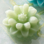Websters Pages - Whimsies - Resin Embellishment Pieces - Mini Flower Petals - Cool Green