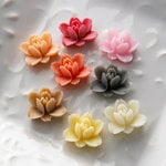 Websters Pages - Whimsies - Resin Embellishment Pieces - Lotus Flower Blooms - Variety