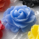 Websters Pages - Whimsies - Resin Embellishment Pieces - Roses in Bloom - Periwinkle