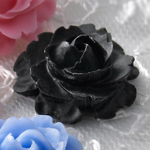 Websters Pages - Whimsies - Resin Embellishment Pieces - Roses in Bloom - Black