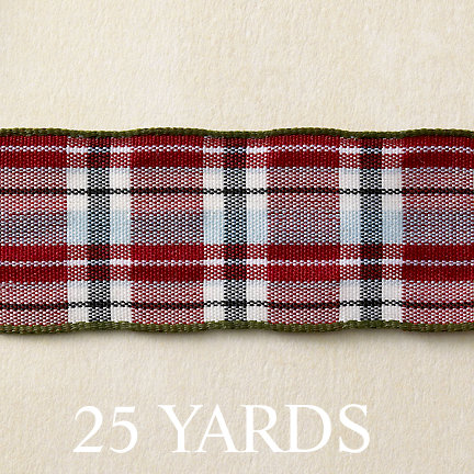 Websters Pages - Designer Ribbon - Plaid - 25 Yards