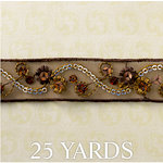 Websters Pages - Designer Ribbon - Brown Net - 25 Yards