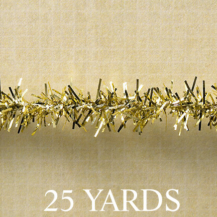 Websters Pages - Designer Ribbon - Tinsel - Gold - 25 Yards, BRAND NEW