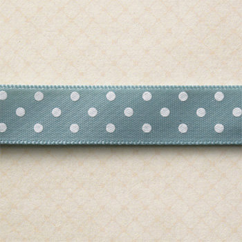 Websters Pages - Spring Market Collection - Designer Ribbon - Blue Polka - 25 Yards