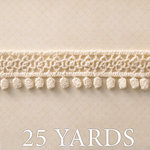 Websters Pages - Ladies and Gents Collection - Designer Ribbon - Natural Fringe - 25 Yards