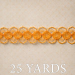 Websters Pages - Trendsetter Collection - Designer Ribbon - Orange Lace - 25 Yards