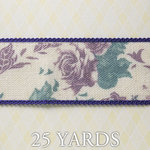 Websters Pages - Western Romance Collection - Designer Ribbon - Floral - 25 Yards