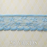 Websters Pages - Western Romance Collection - Designer Ribbon - Blue Lace - 25 Yards
