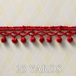 Websters Pages - All About Me Collection - Designer Ribbon - Simple Frill Red - 25 Yards