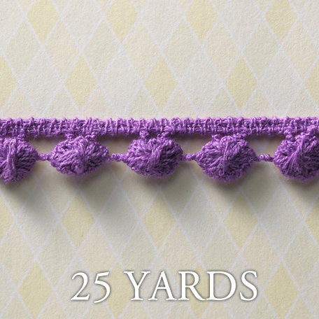 Websters Pages - Winter Fairy Tales Collection - Designer Ribbon - Ball Strand Purple - 25 Yards
