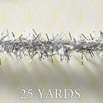 Websters Pages - Designer Ribbon - Tinsel - Silver - 25 Yards