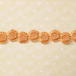 Websters Pages - Sunday Picnic Collection - Designer Ribbon - Orange Sunburst - 25 Yards