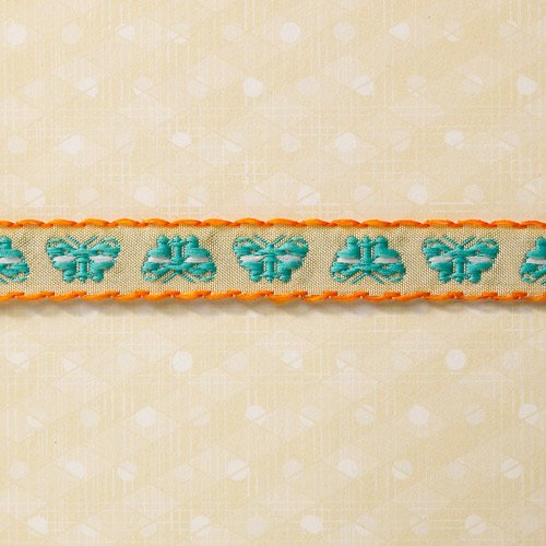 Websters Pages - Sunday Picnic Collection - Designer Ribbon - Picnic Butterflies - 25 Yards