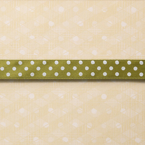 Websters Pages - Designer Ribbon - Green Polka - 25 Yards