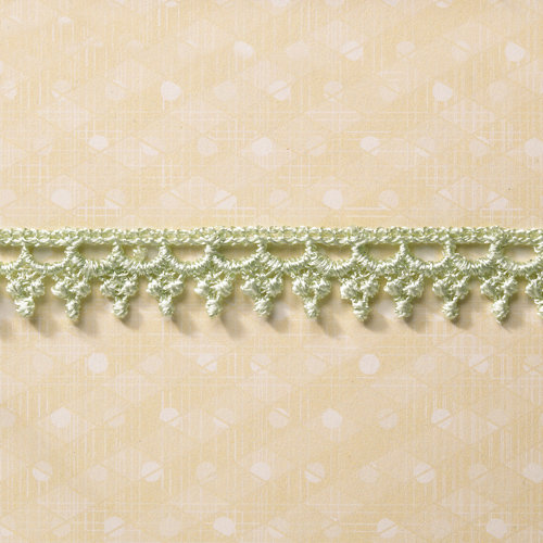 Websters Pages - Designer Ribbon - Green Fringe - 25 Yards