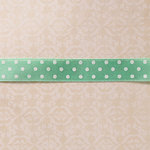 Websters Pages - Designer Ribbon - Blue Satin Polka - 25 Yards