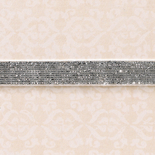 Websters Pages - Designer Ribbon - Velvet Silver Sparkle - 25 Yards