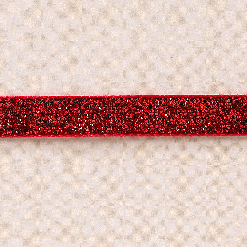 Websters Pages - Designer Ribbon - Velvet Red Sparkle - 25 Yards
