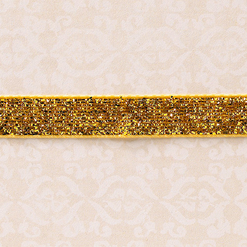 Websters Pages - Designer Ribbon - Velvet Gold Sparkle - 25 Yards