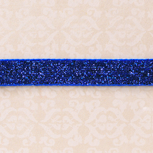 Websters Pages - Designer Ribbon - Velvet Blue Sparkle - 25 Yards