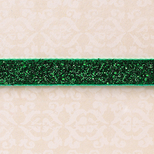 Websters Pages - Designer Ribbon - Velvet Green Sparkle - 25 Yards