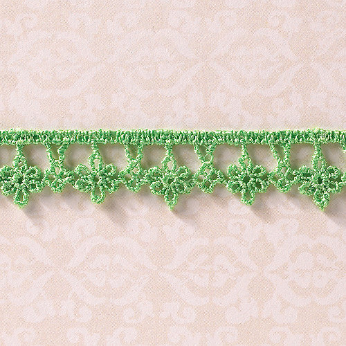 Websters Pages - Designer Ribbon - Drop Flower Green - 25 Yards