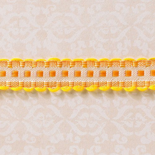 Websters Pages - Designer Ribbon - Scallop Sunshine - 25 Yards
