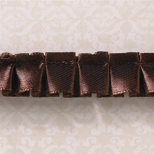 Websters Pages - Designer Ribbon - Brown Ruffle - 25 Yards
