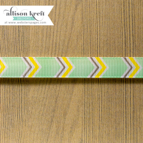Websters Pages - Composition and Color Collection - Designer Ribbon - Lime Arrows - 25 Yards