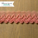 Websters Pages - Composition and Color Collection - Designer Ribbon - Coral Chevron - 25 Yards