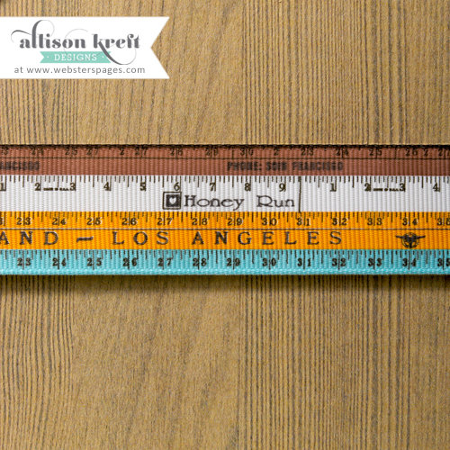 Websters Pages - Composition and Color Collection - Designer Ribbon - Composition Ruler - 25 Yards