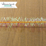 Websters Pages - Sweet Notes Collection - Designer Ribbon - Orange Sparkle - 25 Yards