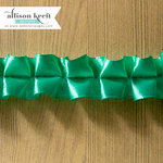 Websters Pages - Sweet Notes Collection - Designer Ribbon - Teal Ruffle - 25 Yards