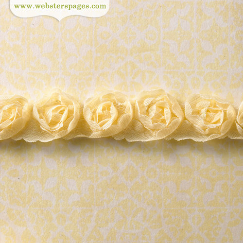 Websters Pages - Modern Romance Collection - Designer Ribbon - Butter Rosette - 25 Yards