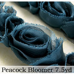 Websters Pages - Bloomers - Flower and Trim Ribbons - Peacock - 7.5 Yards