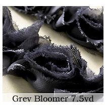 Websters Pages - Bloomers - Flower and Trim Ribbons - Grey - 7.5 Yards