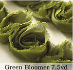 Websters Pages - Bloomers - Flower and Trim Ribbons - Green - 7.5 Yards