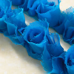 Websters Pages - Bloomers - Flower and Trim Ribbons - Beach Blue - 7.5 Yards