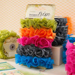 Websters Pages - Bloomers - Flower and Trim Ribbons - Assorted Five