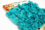 Websters Pages - Bloomers - Flower and Trim Ribbons - Aqua