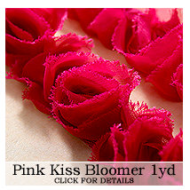Websters Pages - Bloomers - Flower and Trim Ribbons - Pink Kiss