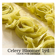 Websters Pages - Bloomers - Flower and Trim Ribbons - Celery