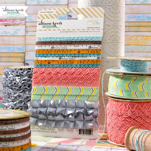 Websters Pages - Composition and Color Collection - Designer Trim and Ribbon