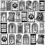 Websters Pages - Royal Christmas Collection - 12 x 12 Transparency - Holiday Windows