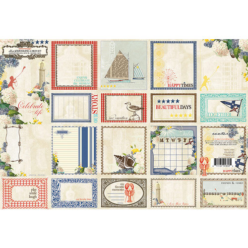 Websters Pages - Yacht Club Collection - Deluxe Journaling Cards
